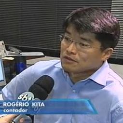 Rogério Kita, Diretor da NK Contabilidade, cede entrevista ao Jornal do SBT